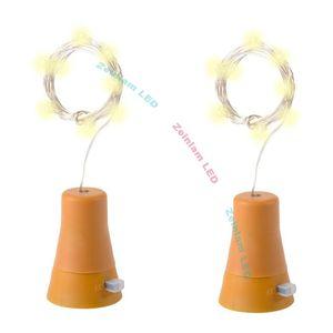 10 LED Solar strip Wine Bottle Stopper Copper Fairy Strip Wire Outdoor Party Decoration Novelty Night Lamp DIY Cork Light Fariy String