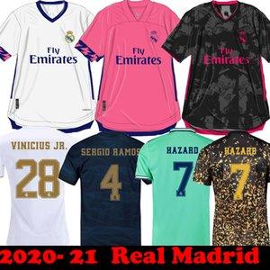 2020 2021 레알 마드리드 위험 축구 유니폼 (20) 아이 키트 사등 21 플레이어 버전 camiseta RM JOVIC 베일 RODRYGO 세르히오 라모스 축구 셔츠