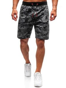 Lunghezza Pantaloni corti Casual Male Camouflage stampano i pantaloni Estate Sashes Maschio Designer Relaxed Pantaloni Moda ginocchio