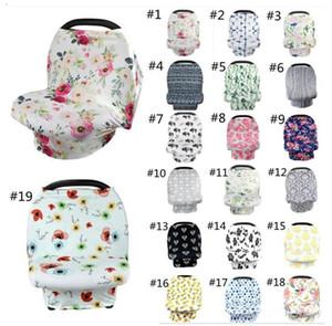 INS Floral Baby Pflege Abdeckung Stillen Abdeckung 56 Stile Baby Autositz Baldachin Stretchy Kinderwagen Baldachin Abdeckung Baby Swaddle Decken