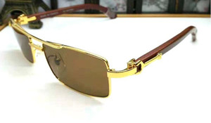 bianco corno di bufalo occhiali mens Retro Vintage occhiali da sole sportivi per gli uomini delle donne di sport di legno occhiali senza montatura telaio lenti chiare occhiali da vista