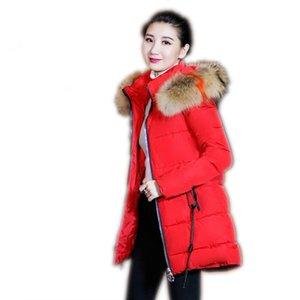 Women Winter Jackets Coats New Down Cotton Hooded Parkas Feminina Warm Outwear Faux Colorful Fur Collar