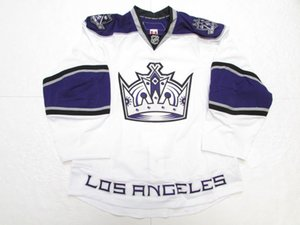 Cheap custom LOS ANGELES KINGS WHITE CROWN TEAM ISSUED JERSEY stitch add any number any name Mens Hockey Jersey XS-5XL