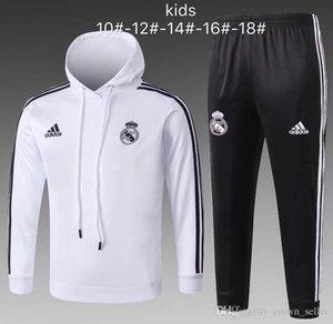 enfants Newnewst Survêtement Real Madrid 2018 2019 Veste de jogging de soccer Modric Bale 18 19 enfant Marcelo Kroos Isco costume d'entraînement de football