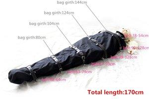 BDSM Giocattoli Braccio Body Body Sexs Bag Sex Binder Straitjacket Bondage Mermaid Mummy Pelle per Slave Piena Restraints Adult Sleeping Body Sack wo Vpox