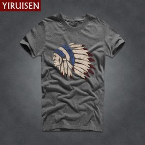 Mens T Shirts Fashion 2018 YiRuiSen Brand Men Short Sleeve T Shirt Men Casual 100% Cotton Tshirt Tops Camisetas Hombre Camisa MX200509