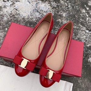 2020Top Vender Bajo-Top Alpargatas Pescador ovejas zapatos de cuero hecho a mano de los calzados informales de las mujeres zapatos sin cordones Suela de goma Ladys planas de vestir 35-40