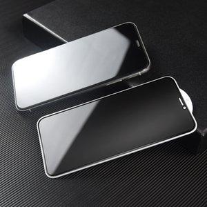 Temperli cam IPhone için 11 / 11Pro / 11ProMax Gizlilik Filtresi gözetleme Gizlilik Cam Filmi Ekran Koruyucu Koruyucu Çelik Film Koruma