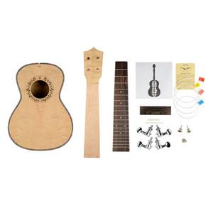 """NAOMI 23 """"Ukulele Construa Seu Próprio Ukulele DIY Concerto Ukulele Kit Inacabado 4 Cordas Guitarra Agradável Top NOVO"""