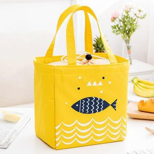 Lunch Box Bag Waterproof Thermal Bag Oxford Fabric Portable Thermal Insulated Cation Picnic Box Women Tote Storage