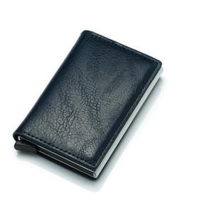 Kreditkarteninhaber Anti-Diebstahl Automatische Wallet Card Case Men Mini Leder Mann-Geldbeutel Außenhandel mit Kreditkarte Brieftasche
