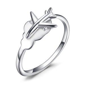 JewelryPalace Globales Flugzeug Ring 925 Sterling Silber Ringe für Frauen öffnen stapelbare Ringe Silber 925 Schmuck Fine Jewelry