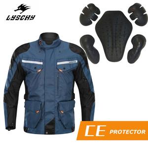 Giacca LYSCHY moto Oxford tessuto impermeabile motocross Abbigliamento Professional Cycling Giacca con protezione degli ingranaggi
