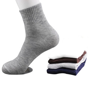 5 paires All Seasons chaussettes de coton tenue d'affaires décontractée Homme Printemps Eté Automne Hiver Couleurs solides Crew Socks Homme Chaussettes respirantes