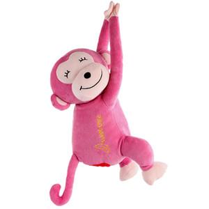 Горячая коробка держатель ткани висит обезьяна бумага автомобильная салфетка крышка мультяшный животное