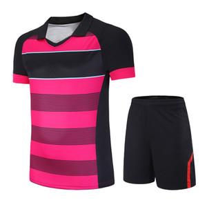 Kadın Erkek Badminton Tenis Giyim Masa Tenisi Gömlek + Şort Spor Giysi Set Nefes Hızlı Kuru Spor Takım Elbise