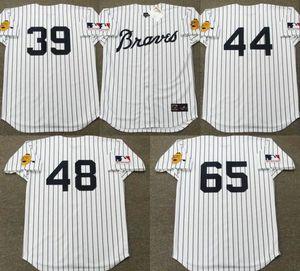 camiseta de béisbol Atlanta Hank Aaron Hoyt Wilhelm Phil Niekro Dusty Baker, Joe Torre Rico Carty Sonny Jackson Clete Boyer Mike Lum