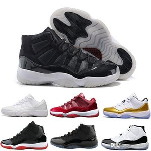 TOP Concord High 45 11 XI 11s Gown Heiress Gym Red Chicago Platinum Tint Space Jams Men Outdoor Basketball Shoes sports Sneakers size 13