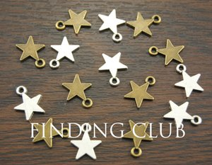 200pcs Star Charms Pendant Drop Double Side DIY Metal Bracelet Necklace Jewelry Findings 13mm A1013 A1014 A1277