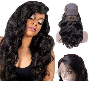 2018 La vendita superiore Lace Front wigs onda del corpo umano Virgin Capelli neri Natura per le belle donne Lace Front brasiliano wigss