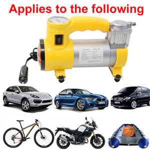 Freeshipping Portable Air Compressor Heavy Duty 12V 150 PSI Tire Inflator Pump Car Care Tool for Car Motorcycles Bicycles Rubber Dinghy Ball
