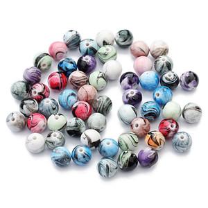 100 Pcs / Lot 8mm résine ronde Perles En Vrac coloré DIY Accessoires faits à la main Résultats de bijoux Composants en gros perles en vrac