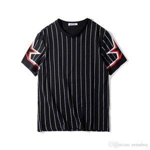 Luxo Camiseta Hip Hop listrado Mens Printing Designer T Shirt Polo Homens Mulheres Verão Camiseta manga curta Tees Tamanho S-XXL