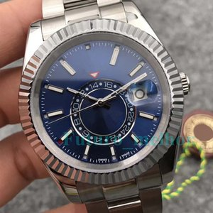 Новые Роскошные Мужские Часы Mens Sapphire Sky-Dweller A2813 Автоматический Механический Механизм Часы Спортивные Наручные Часы С Автоподзаводом