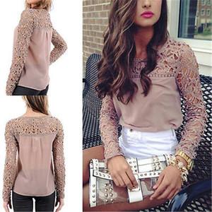 Женские блузки рубашки осень базовая рубашка мода сетки топы 2021 женские кружевные блузка длинные рукава повседневная одежда