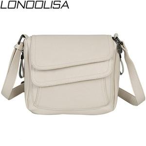 Lonoolisa White Beach Bag Damen Schulter Crossbody Taschen Für Frauen 2019 Leder Luxus Handtaschen Damen Taschen Designer Sac A Main J190702