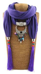 민족 실크 불상 비즈 여성을위한 티벳 실버 펜던트 술 목걸이 스카프 New Maxi Collar Necklace 패션 주얼리