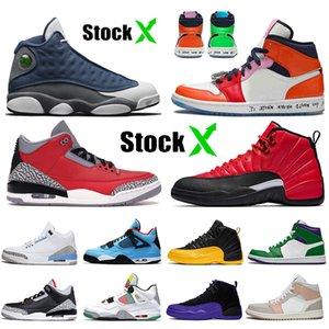 Nike Air Retro Jordan 3 Mode 2020 UNC 3 3s AirrétroJordan Stock x Ciment Noir réfléchissant Cement Red Fire Tinker Katrina Top qualité Chaussures de sport