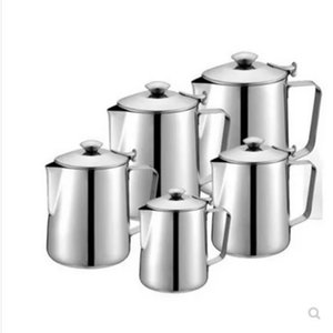 Pull en acier inoxydable Fleur Espresso mousseur Frothing Cup Garland Milk Jug grande capacité Coffee Pot WJ121813