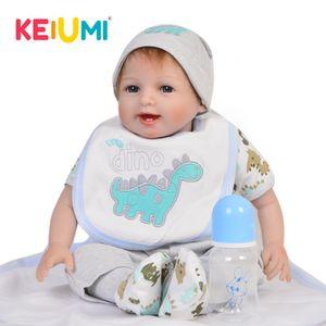 Keiumi 22 '' حار بيع الوليد الطفل حيا دمية لينة سيليكون نابض بالحياة دمى لعبة للأطفال كيد عيد الميلاد هدايا