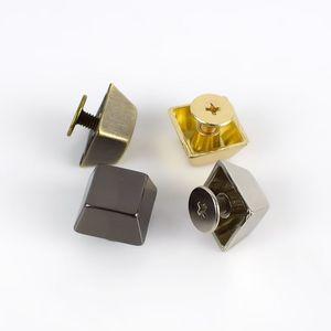 Meetee quadrate in metallo Rivetti vite fibbia per i sacchetti borsa inferiore decorativo Nails Stud pulsante hardware Accessori