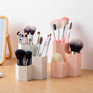 Makeup Brush bagagli Secchio Tubo Make Up Holder Egg Beauty Cosmetic Storage Box Femminile Eyebrow Pencil Brushes Rganiser Container