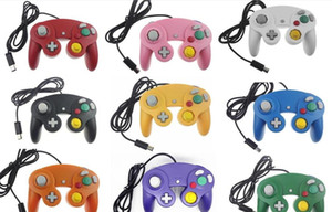10 colors Top Quality NGC Wired Game Controller Gamepad for NGC Gaming Console Gamecube Turbo DualShock Wii U Extension Cable without Box