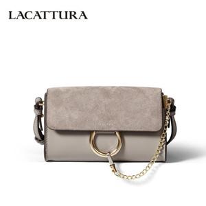 LACATTURA Femmes Messenger Bag Bracelet Sac à bandoulière en cuir pour sacs d'épaule Lady Mini embrayage haute qualité