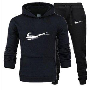 2020 Tracksuit Men Sets Fashion Spring Winter Sporting Suit Sweatshirt +Sweatpants Mens Clothing 2 Pieces Sets Slim Track Suit S-XXXL