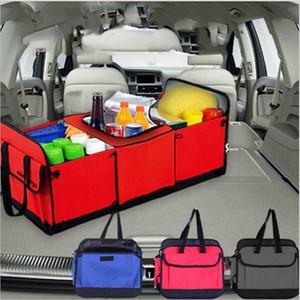Katlanabilir Araç Saklama Poşetleri Çoklu Bölme Araba Kamyon Organizatör Basket Konteyner ile Cooler Ve Yalıtım Araç Organizatör GGA861