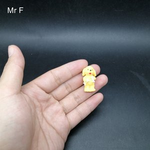 Kid Gift Yellow Standing Dog Simulation Animal Model Preschool Educational Toy Game Mini Size