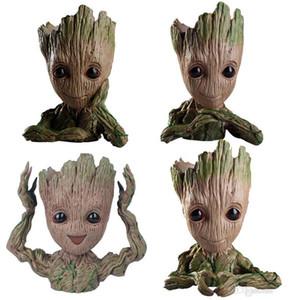 Figura de acción de árbol Hombre bebé animado muñecas Penholder Guardianes de la Galaxia 2 Modelo portalápices Hero y maceta de flores Groot Juguetes