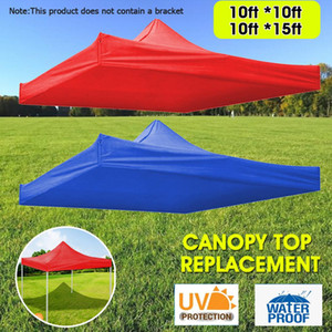 Red Blue Sun Shelter Tent Outdoor Tool Silver Rivestimento Impermeabile Protezione UV Pantacchione Top Sostituzione 9.84 * 9.84FT / 9.84 * 14.76FT