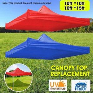 Red Blue Sun Shelter Barraca Outdoor Tool Revestimento de Prata Proteção UV Proteção UV Top Substituição superior 9.84 * 9.84FT / 9.84 * 14.76ft