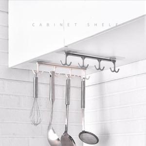 under cabinet hooks racks 8 hooks plastic kitchen cabinet under hangers shelf storage holders sucker hanger bathroom hooks
