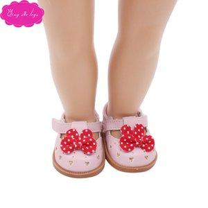 """Velcro düz ayakkabılar yay 18 """"American Girl bebek elbisesi s123"""