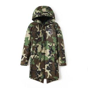 Chaud Costume de velours avec la qualité haut de gamme Cultivez One Moralité Camouflage Long Down Jacket Slim Long Down Jacket Camouflage