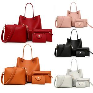 4pcs donna Bag Set moda femminile borsa e borsa Quattro pezzi di spalla libero del sacchetto del messaggero del Tote della borsa di goccia