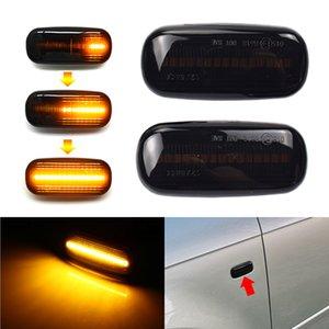 بدوره LED الحيوي إشارة ضوئية الجانب ماركر مصباح الأنوار مكرر الإشارة لأودي A3 S3 8P A4 B6 B8 B7 S4 RS4 A6