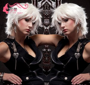 Wish new popular European and American wig women's Cosplay short white hair happy trend wig